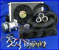 A/C KIT UNIVERSAL UNDER DASH EVAPORATOR 12V 450A-0FC WithElec Harness