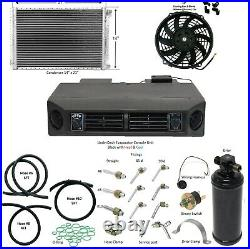 A/C Universal Kit Underdash Heat & Cool Cond 14x21 Fan 14 Fitting Drier & Hoses