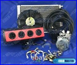 NEW A/C KIT UNIVERSAL UNDERDASH EVAPORATOR404-RED with LOUVERS & ELEC. HARNESS