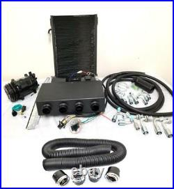 Universal Underdash AC Air Conditioning Evaporator Kit + Duct & Vents Compressor