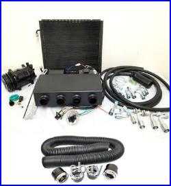 Universal Underdash AC Air Conditioning Evaporator Kit with Compressor Vents Hoses