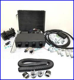 Universal Underdash AC Air Conditioning Evaporator Kit with Duct Vents Compressor