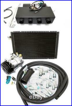 Universal Underdash AC Air Conditioning Heat Cool Evaporator Kit Fittings Hoses