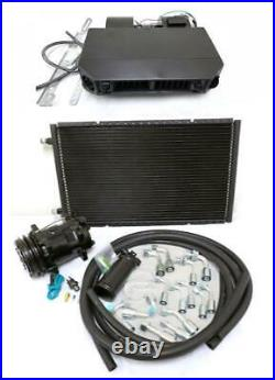 Universal Underdash AC Air Conditioning Heat Cool Evaporator Kit Hoses Fittings