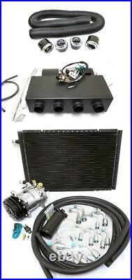 Universal Underdash AC Air Conditioning Heat Cool Evaporator Kit + Hoses & Vents