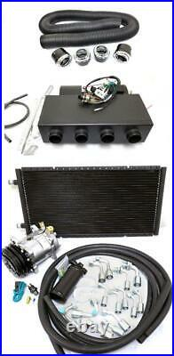 Universal Underdash AC Air Conditioning Heat Cool Evaporator Kit + Vents & Hoses