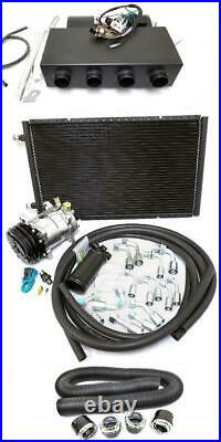 Universal Underdash AC Air Conditioning Heat Cool Evaporator Kit with Hoses Vents
