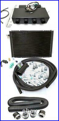 Universal Underdash AC Heat Cool Air Conditioning Evaporator Kit with Vents Hoses