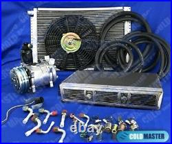 Universal Underdash Air Conditioner Kit 450 Chrome & Electric Harness