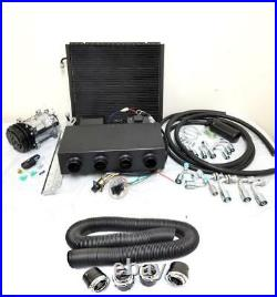 Universal Underdash Air Conditioning AC Evaporator Kit with Duct Vents Compressor