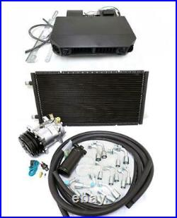 Universal Underdash Air Conditioning AC Heat Cool Evaporator Kit Hoses Fittings