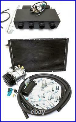 Universal Underdash Air Conditioning Heat Cool AC Evaporator Kit Fittings Hoses