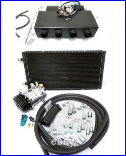 Universal Underdash Air Conditioning Heat Cool AC Evaporator Kit Hoses Fittings