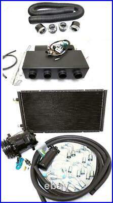 Universal Underdash Air Conditioning Heat Cool AC Evaporator Kit with Hoses Vents