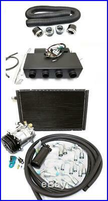 Universal Underdash Air Conditioning Heat Cool Evaporator AC Kit + Vents & Hoses